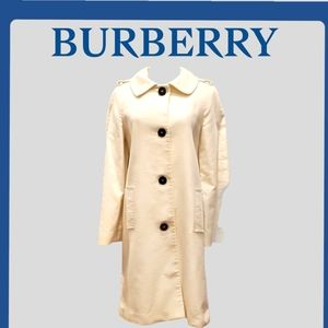 Burberry single breasted coat 100% Baumwolle Cotton SZ 8